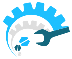 Logo de machine outil